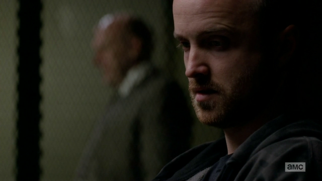 Breaking Bad S5E10 Hank looming over Jesse