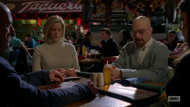 Breaking Bad S5E11 Walt Skylar Hank Marie