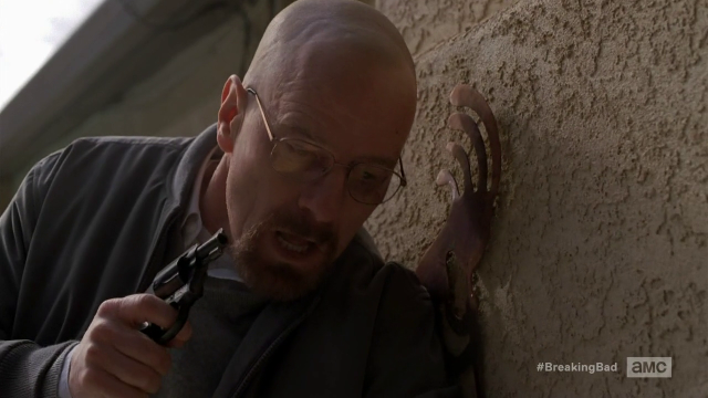 Breaking Bad S5E12 Walt with a gun