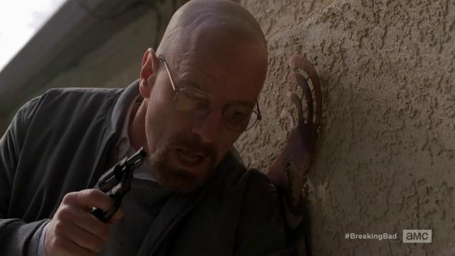 Breaking Bad S5E12 Walt with a gun