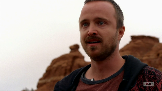 Breaking Bad S5E13 Jesse thinking he's finally free of Walt