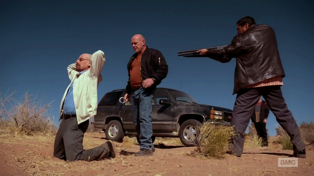Breaking Bad S5E13 Walt being handcuffed